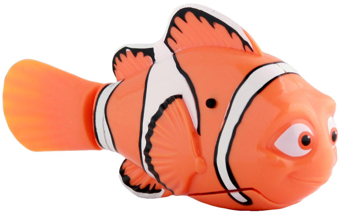 Dory Робот Рыбка Марлин25138M В поисках Дори! Марлин- главный герой продолжения известного мультфильма В поисках Немо, При соприкосновении с водой начинают плавать. В целях экономии энергии рыбка автоматически отключается через 4 минуты. Для активации рыбки вытащите ее из воды на несколько секунд и запустите снова в воду. Игрушка работает от двух алкалиновых батареек А76 или RL44, которые входят в комплект (две установлены в игрушку и 2 запасные)