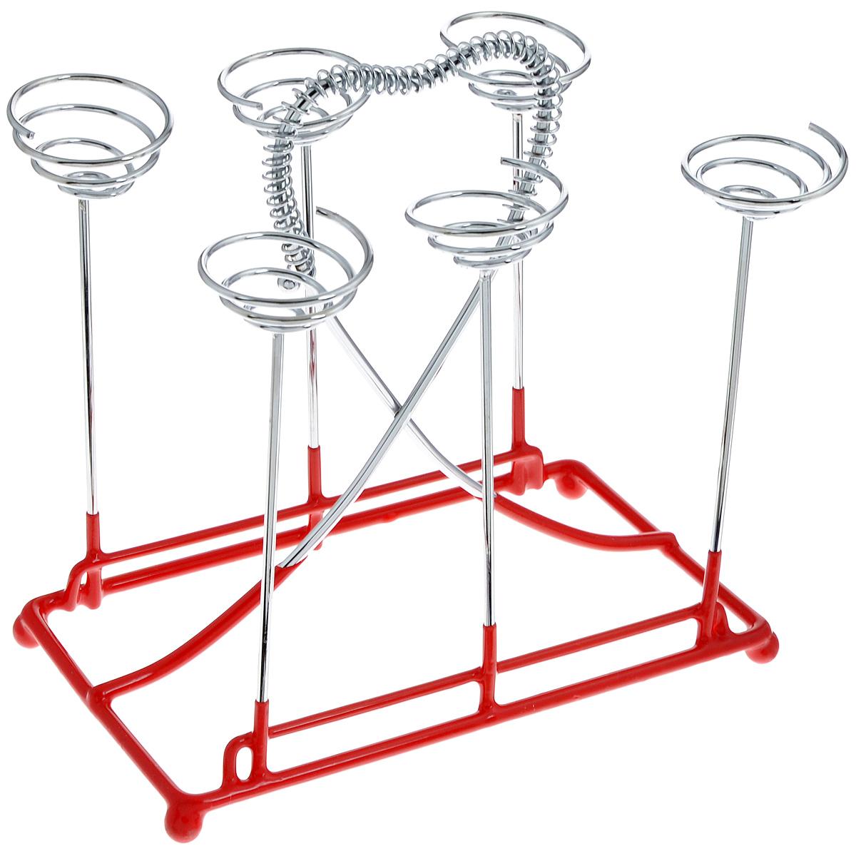 Подставка-стойка для чашек Mayer & Boch Сердце20073Подставка-стойка для чашек Mayer & Boch Сердце изготовлена из хромированного металла. Основание отделано противоскользящим покрытием. Подставка рассчитана на 6 чашек. Вы можете установить ее в любом удобном месте, такая подставка-стойка позволит аккуратно хранить посуду, станет полезным аксессуаром в быту и идеально впишется в интерьер современной кухни. Размер подставки: 18 х 12,5 х 18 см.