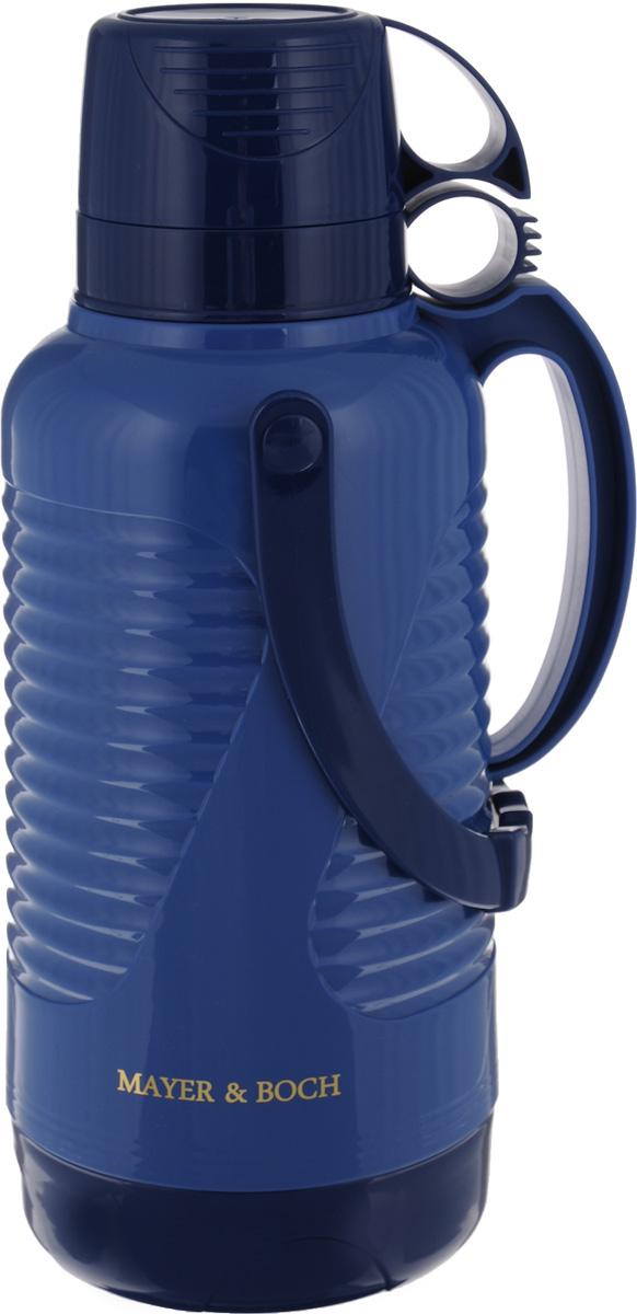 """Термос """"Mayer & Boch"""", с чашами, цвет: синий, темно-синий, 3,2 л 24902"""