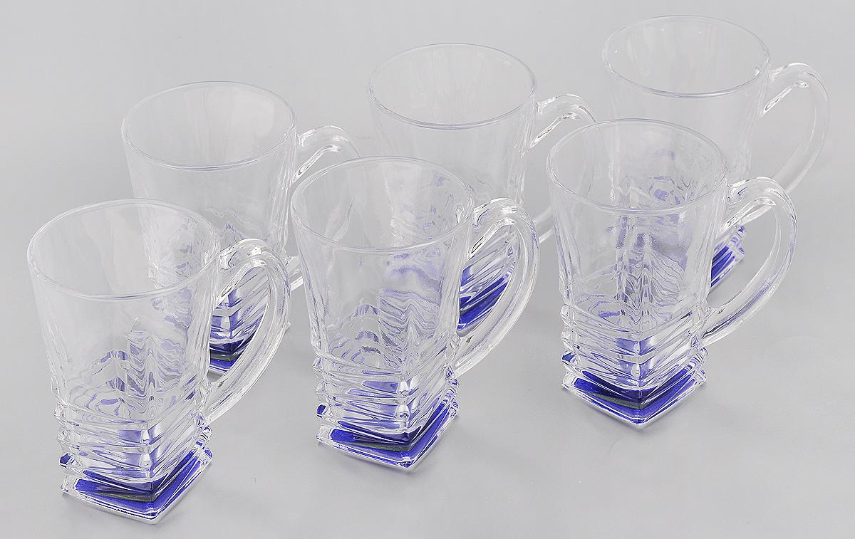Набор стаканов Loraine, 155 мл, 6 шт24081Набор Loraine состоит из 6 стаканов, выполненных из высококачественного стекла. Изделия декорированы изысканным рельефом, дно изделий цветное, это создает иллюзию того, что напиток синий. Благодаря такому набору пить напитки будет еще вкуснее. Набор стаканов Loraine станет также отличным подарком на любой праздник. Подходит для горячих и холодных напитков. Не рекомендуется мыть в посудомоечной машине. Диаметр стакана (по верхнему краю): 6 см. Высота стакана: 10 см.