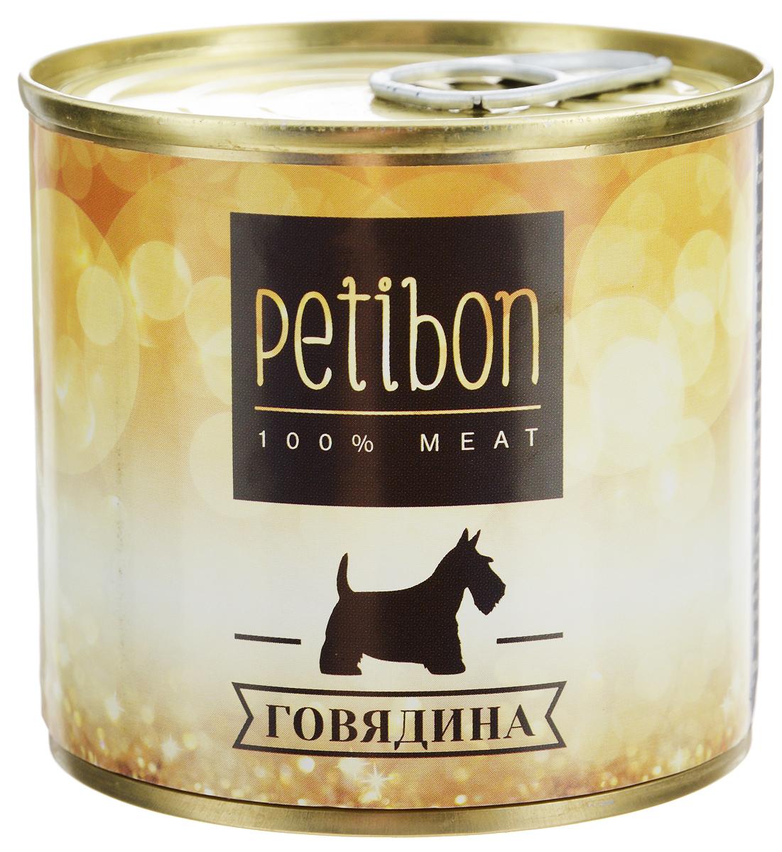 Консервы для собак Petibon, с говядиной, 240 г315141001Petibon - влажный мясной корм для собак. Использование монобелкового комплексного сырья значительно расширяет аминокислотный состав продукта. Использование корма рекомендовано для собак, нуждающихся в диете или определённом виде мяса. Товар сертифицирован.