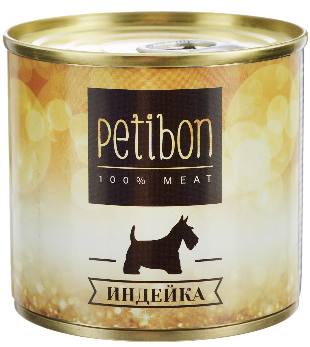 Консервы для собак Petibon, с индейкой, 240 г315141002Petibon - влажный мясной корм для собак. Использование монобелкового комплексного сырья значительно расширяет аминокислотный состав продукта. Использование корма рекомендовано для собак, нуждающихся в диете или определённом виде мяса. Товар сертифицирован.
