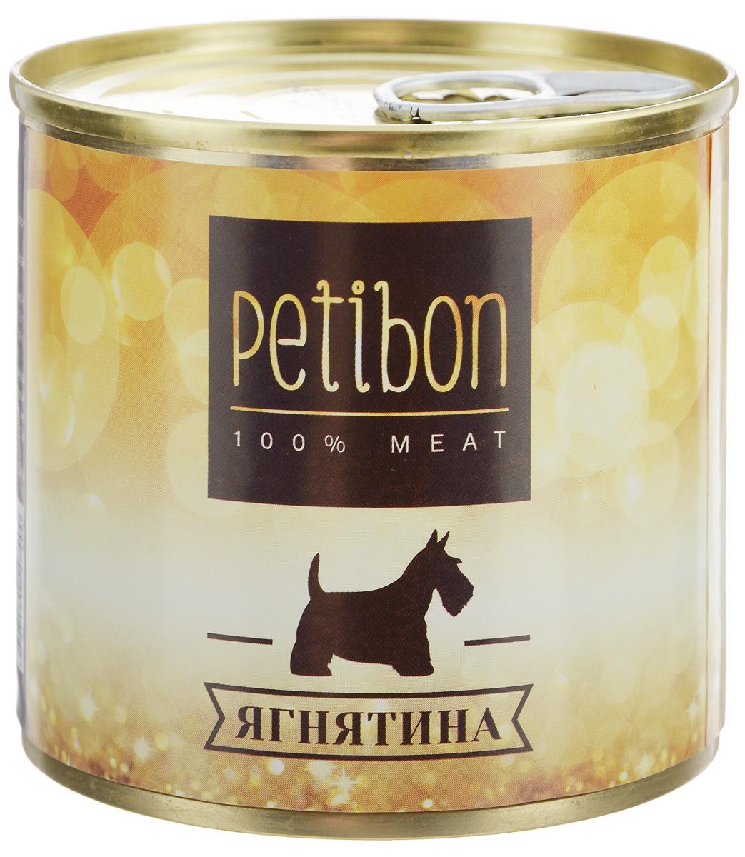 Консервы для собак Petibon, с ягненком, 240 г315141004Petibon - влажный мясной корм для собак. Использование монобелкового комплексного сырья значительно расширяет аминокислотный состав продукта. Использование корма рекомендовано для собак, нуждающихся в диете или определённом виде мяса. Товар сертифицирован.
