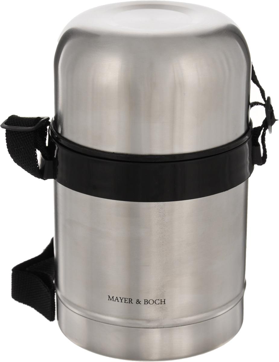 Термос пищевой Mayer & Boch, 500 мл. 2314823148Термос с широким горлом Mayer & Boch, изготовленный из высококачественной нержавеющей стали 18/10, прост в использовании и многофункционален. Изделие имеет двойные стенки, что позволяет содержимому долго оставаться горячим или холодным. Термос снабжен удобной крышкой-чашкой. Для удобной переноски предусмотрен специальный ремешок. Термос сохраняет температуру горячих или холодных продуктов до 12 часов. Крышка плотно закрывается. Не рекомендуется мыть в посудомоечной машине. Высота (с учетом крышки): 17,5 см. Диаметр горлышка: 8 см. Диаметр чашки: 9,5 см. Высота чашки: 6 см.