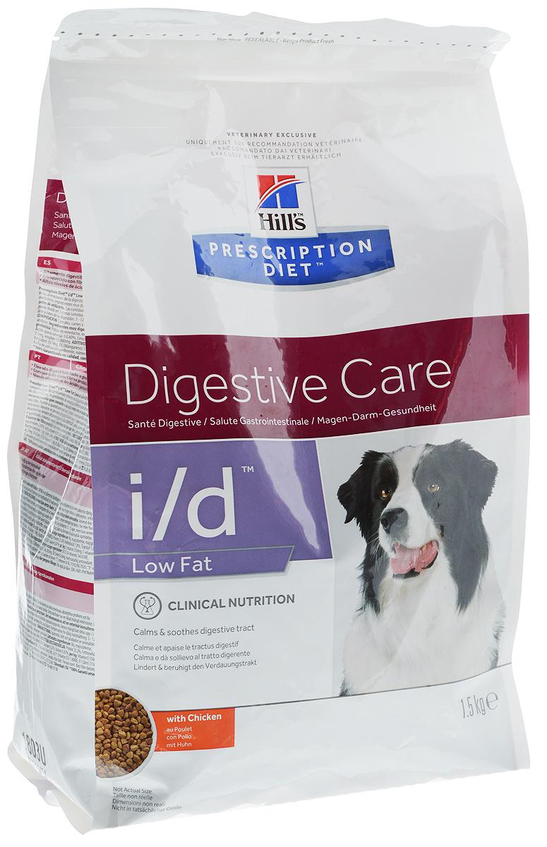 Корм сухой диетический Hills I/D для собак, низкокалорийный, для лечения ЖКТ, с курицей, 1,5 кг1803_новый дизайнСухой корм для собак Hills I/D - полноценный диетический рацион при острых кишечных абсорбативных расстройствах, для компенсации дефицита нутриентов (питательных веществ), при нарушении пищеварения и экзокринной недостаточности поджелудочной железы у собак. Рацион содержит повышенный уровень электролитов, ингредиенты высокой биологической ценности и биодоступности и пониженный уровень жира. Высокоусваиваемый рацион с низким содержанием жира для поддержания здоровья желудочно-кишечного тракта в условиях функциональных расстройств и минимизации риска из рецидивов. - Превосходный вкус понравится вашей собаке. - Пребиотические волокна обеспечивают рост полезной микрофлоры. - Добавление имбиря способствует деликатному пищеварению. Товар сертифицирован.