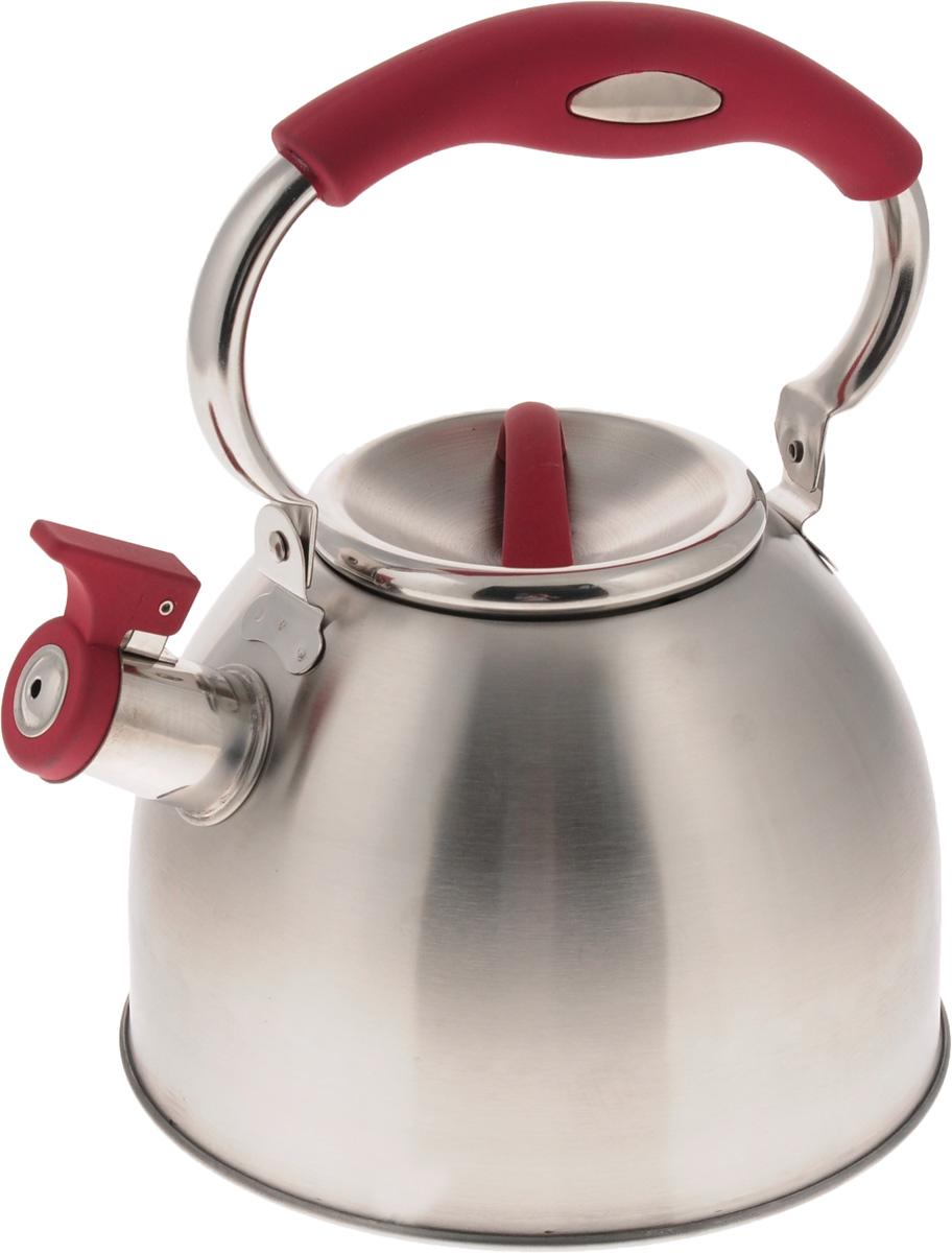 Чайник Mayer & Boch, со свистком, 3 л. 2142821428Чайник Mayer & Boch выполнен из нержавеющей стали высокой прочности. При кипячении сохраняет все полезные свойства воды. Весьма гигиеничен и устойчив к износу при длительном использовании. Гладкая и ровная поверхность существенно облегчает уход за посудой. Чайник оснащен свистком, который громко оповестит о закипании воды. Удобная эргономичная ручка выполнена из пластика с покрытием Soft-Touch. Такой чайник идеально впишется в интерьер любой кухни и станет замечательным подарком к любому случаю. Подходит для всех типов плит, включая индукционные. Можно мыть в посудомоечной машине. Диаметр чайника (по верхнему краю): 10 см. Высота чайника (с учетом ручки): 26 см. Высота чайник (без учета ручки и крышки): 13 см.
