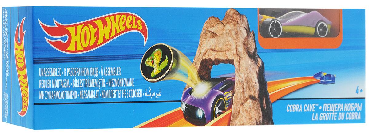 Hot Wheels Игрушечный трек Пещера кобрыDNN77_DNN79Гоночный трек Hot Wheels Пещера кобры обязательно понравится вашему ребенку и не позволит ему скучать. В наборе классическая трасса с трамплином. Отправь свою машинку в захватывающий дух полет! Устройте соревнование машинок, какая пролетит дальше? Ребенок будет с полнейшим восторгом наблюдать, как машинка проносится по скоростной трассе сквозь каменную пещеру кобры. Ваш ребенок часами будет играть с набором, придумывая различные истории и устраивая соревнования. Порадуйте его таким замечательным подарком!