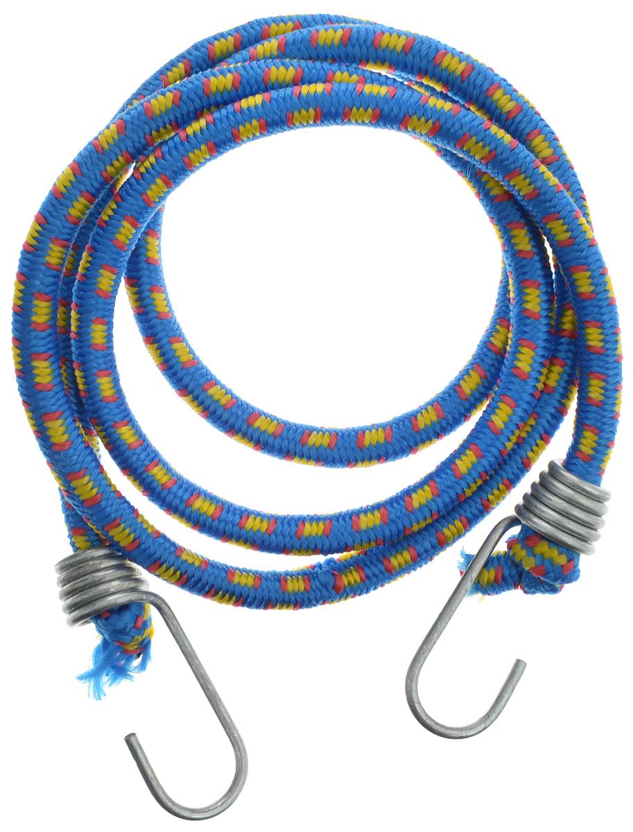 Резинка багажная МастерПроф, с крючками, цвет: синий, желтый, красный, 1 х 140 смАС.020025_синий, желтый, красныйБагажная резинка МастерПроф, выполненная из синтетического каучука, оснащена специальными металлическими крюками, которые обеспечивают прочное крепление и не допускают смещения груза во время его перевозки. Изделие применяется для закрепления предметов к багажнику. Такая резинка позволит зафиксировать как небольшой груз, так и довольно габаритный. Температура использования: -15°C до +50°C. Безопасное удлинение: 60%. Толщина резинки: 1 см. Длина резинки: 140 см.