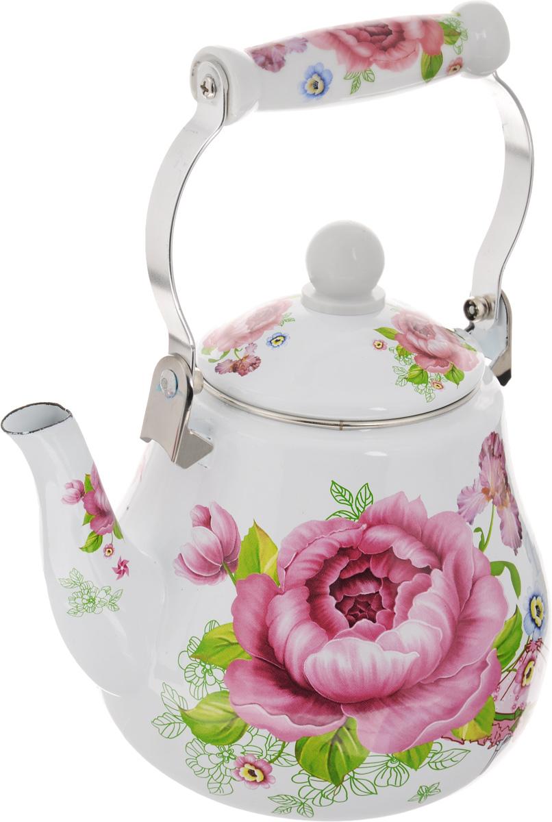 Чайник эмалированный Mayer & Boch Цветы, 2,5 л. 23995