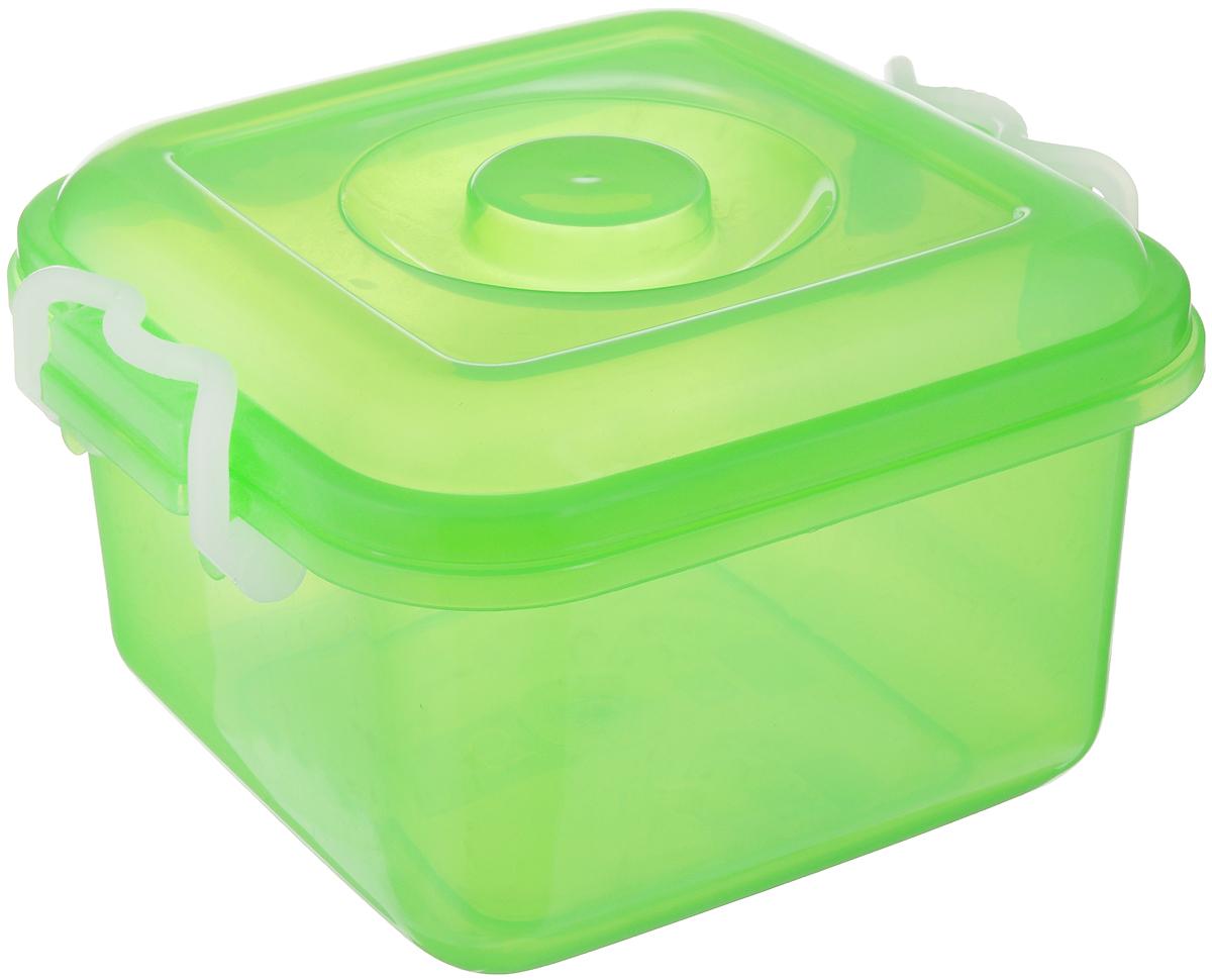 Контейнер для хранения Idea Океаник, цвет: зеленый, 6 лМ 2855Контейнер Idea Океаник, выполненный из высококачественного пищевого полипропилена, предназначен для хранения различных вещей. Он снабжен плотно закрывающейся крышкой со специальными боковыми фиксаторами. Вместительный контейнер позволит сохранить ваши вещи в порядке, а герметичная крышка предотвратит случайное открывание, а также защитит содержимое от пыли и грязи.