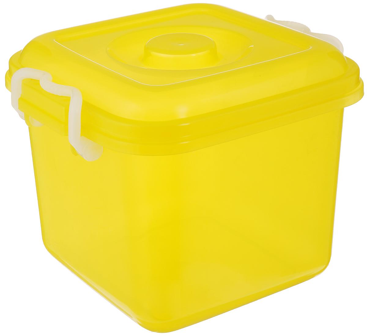 Контейнер для хранения Idea Океаник, цвет: желтый, 8 лМ 2856Контейнер Idea Океаник, выполненный из высококачественного пищевого полипропилена, предназначен для хранения различных вещей. Он снабжен плотно закрывающейся крышкой со специальными боковыми фиксаторами. Вместительный контейнер позволит сохранить ваши вещи в порядке, а герметичная крышка предотвратит случайное открывание, а также защитит содержимое от пыли и грязи.