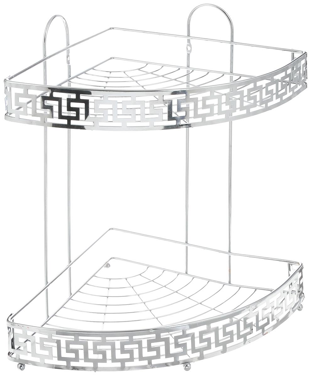 Полка для ванной комнаты Mayer & Boch, угловая, 2-ярусная, 34 х 25 х 34,5 см22025Угловая 2-ярусная полка Mayer & Boch изготовлена из высококачественного металла с хромированным покрытием. Полка отлично подойдет для хранения различных ванных принадлежностей. Она впишется практически в любой интерьер и поможет эффективно организовать пространство. Изделие крепится к стене при помощи саморезов (входят в комплект). Размер яруса: 34 х 25 х 4 см. Общий размер полки: 34 х 25 х 34,5 см.