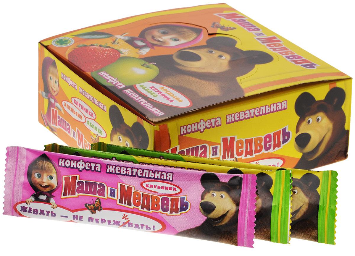 Маша и Медведь Аccорти конфеты жевательные, 396 г (36 шт)BB-5-2/MBЖевательные конфеты Маша и Медведь. Конфеты понравятся любому ребенку, ведь они имеют три любимых детских вкуса — яблоко, апельсин, клубника.