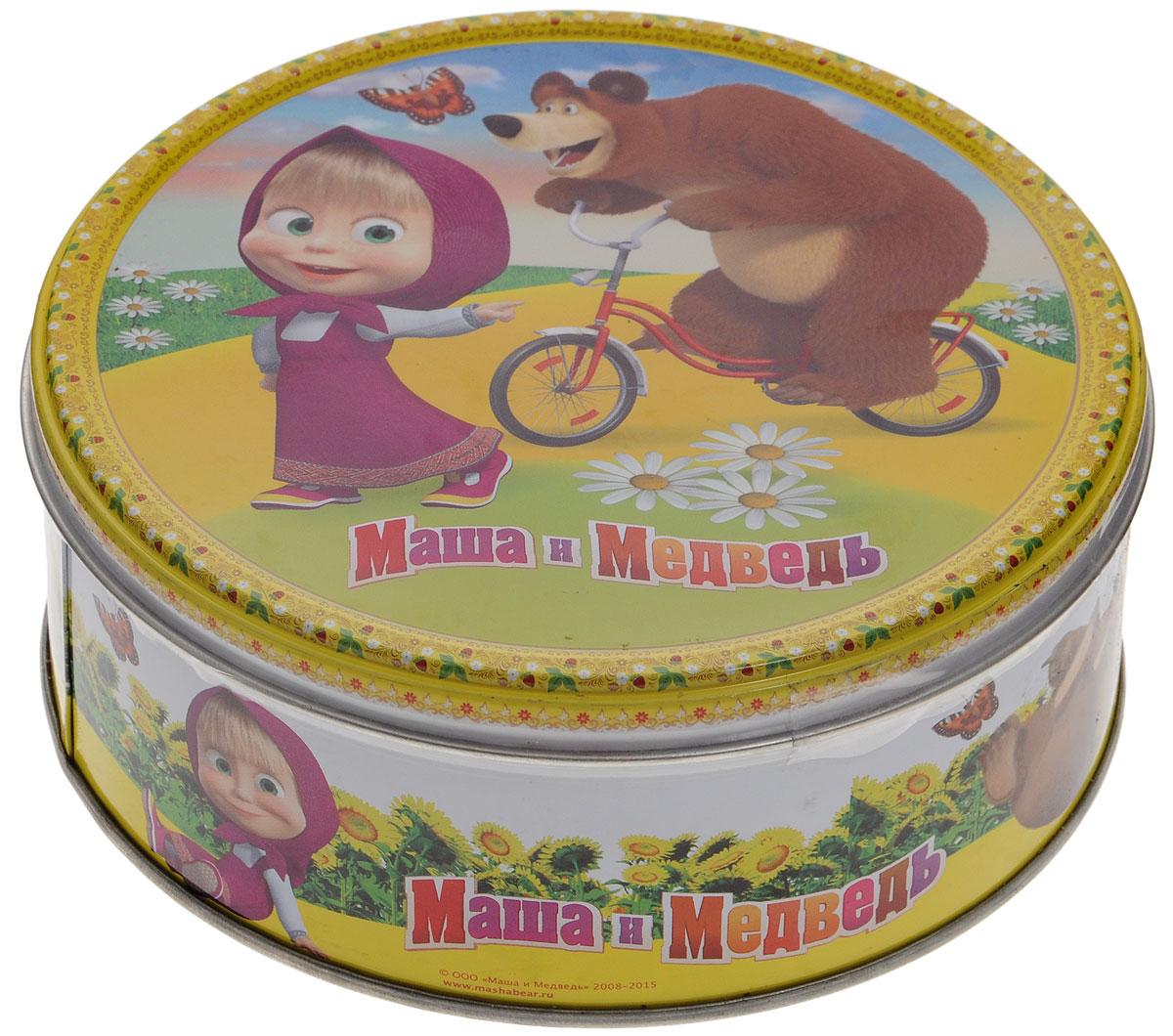 Маша и Медведь печенье сдобное с кусочками шоколада, 150 г4600416016891_медведь на велосипедеМаша и Медведь - 100% сдобное печенье с кусочками шоколада. Печенье упаковано в металлическую банку с изображением героев мультфильма Маша и Медведь. Такое печенье станет оригинальным подарком.