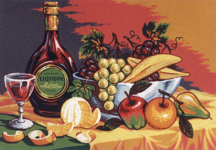 Канва жесткая с рисунком Soulos Натюрморт десерт с фруктами, 60 см х 45 см. D.511D.511К изнаночной стороне каждой канвы прикреплена бумажная этикетка с указанием артикула, штрих-кода, наименования товара, а также информации о производителе. На канве, помимо мотива, напечатан логотип компании-изготовителя, указан размер готовой работы, канвы и материал, из которого она изготовлена. Также на канве напечатан цветной и цифровой ключ по цветам для классического хлопкового мулине DMC и Anchor, а на этикетке есть цвета Finca Presencia