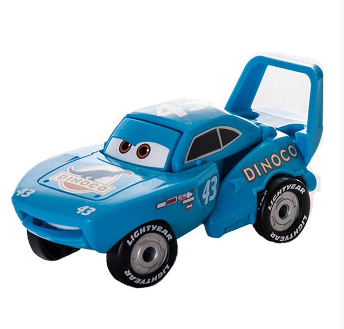 EggStars Яйцо-трансформер Кинг84541Оригинальная игрушка EggStars Кинг надолго займет внимание вашего ребенка. Кинг - один из соперников Молнии МакКуина из мультфильма Тачки, многократный победитель гонок за кубок Поршня. Прототип Кинга - автомобиль Ричарда Петти «Superbird». Машина окрашена в голубые тона, на капоте логотип с изображением динозавра, а сбоку - номер 43. Легендарный чемпион, король гонок, Кинг дал МакКуину много ценных советов. Яйцо-трансформер Кинг легко преображается в машинку из мультфильма. Всего несколько движений, и из овала получается красивый гоночный автомобиль.