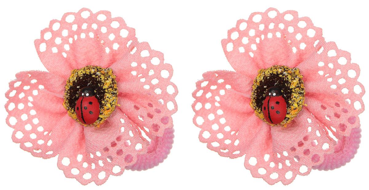 Резинка для волос Migura, цвет: розовый, 2 шт. NUV0143NUV0143Набор резинок для волос Migura изготовлен из текстиля. Каждая резинка оформлена декоративным элементом из акрила. Резинка для волос Migura надежно зафиксирует волосы и подчеркнет красоту прически вашей маленькой принцессы.