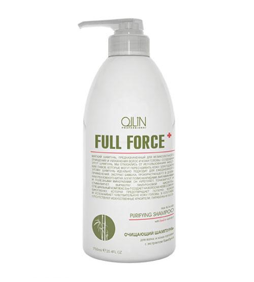 Ollin Очищающий шампунь для волос и кожи головы с экстрактом бамбука Full Force Hair & Scalp Purfying Shampoo 750 мл725607Hair & Scalp Purfying Shampoo - шампунь очищающий для волос и кожи головы с экстрактом бамбука. Увлажняет волосы и не пересушивает кожу головы из-за отсутствия в составе жестких ПАВ. Действие экстракта бамбука направлено на укрепление волос, а комплекс Exo-T создает невесомую биопленку, которая предотвращает потерю влаги и успокаивает чувствительную кожу головы. Предназначен для глубокого очищения волос и кожи головы. Без искусственных красителей, Без парабенов, Без SLES