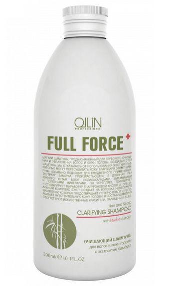 Ollin Очищающий шампунь для волос и кожи головы с экстрактом бамбука Full Force Hair & Scalp Purfying Shampoo 300 мл725614Hair & Scalp Purfying Shampoo - шампунь очищающий для волос и кожи головы с экстрактом бамбука. Увлажняет волосы и не пересушивает кожу головы из-за отсутствия в составе жестких ПАВ. Действие экстракта бамбука направлено на укрепление волос, а комплекс Exo-T создает невесомую биопленку, которая предотвращает потерю влаги и успокаивает чувствительную кожу головы. Предназначен для глубокого очищения волос и кожи головы. Без искусственных красителей, Без парабенов, Без SLES