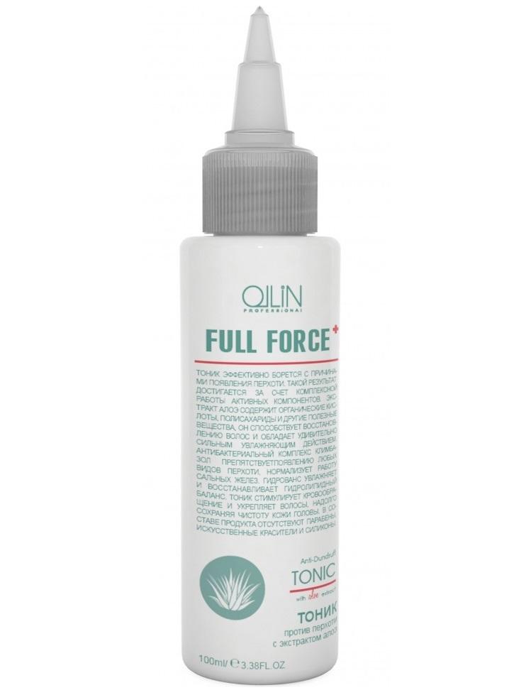 Ollin Тоник против перхоти с экстрактом алоэ Full Force Anti-Dandruff Tonic 100 мл725683Тоник эффективно борется с причинами появления перхоти. Такой результат достигается за счет комплексной работы активных компонентов. Экстракт алоэ содержит органические кислоты, полисахариды и другие полезные вещества, он способствует восстановлению волос и обладает удивительно сильным увлажняющим действием. Антибактериальный комплекс Климбазол препятствует появлению любых видов перхоти, нормализует работу сальных желез. Гидрованс увлажняет и восстанавливает гидролипидный баланс. Тоник стимулирует кровообращение и укрепляет волосы, надолго сохраняя чистоту кожи головы. Без искусственных красителей, Без парабенов, Без силиконов