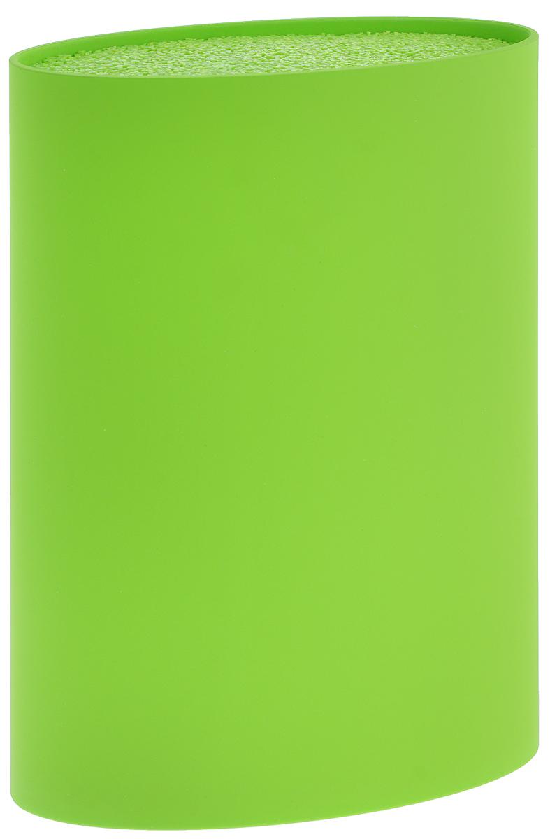 Подставка для ножей Mayer & Boch, цвет: салатовый, высота 22,5 см. 2387523875Универсальная подставка для ножей Mayer & Boch отлично дополнит интерьер вашей кухни. Корпус подставки сделан из высококачественного пластика, что делает ее долговечной. Гибкие полипропиленовые стержни, из которых состоит наполнитель подставки, формируют структуру, подобную щетке. Просто воткните нож в подставку, и она надежно удержит его. Изделие отвечает всем нормам гигиенических требований, так как при необходимости наполнитель свободно вынимается и моется в посудомоечной машине. Подставка станет прекрасным подарком, а ее яркий дизайн станет украшением вашей кухни. Размер подставки: 22,5 х 16 х 7 см.