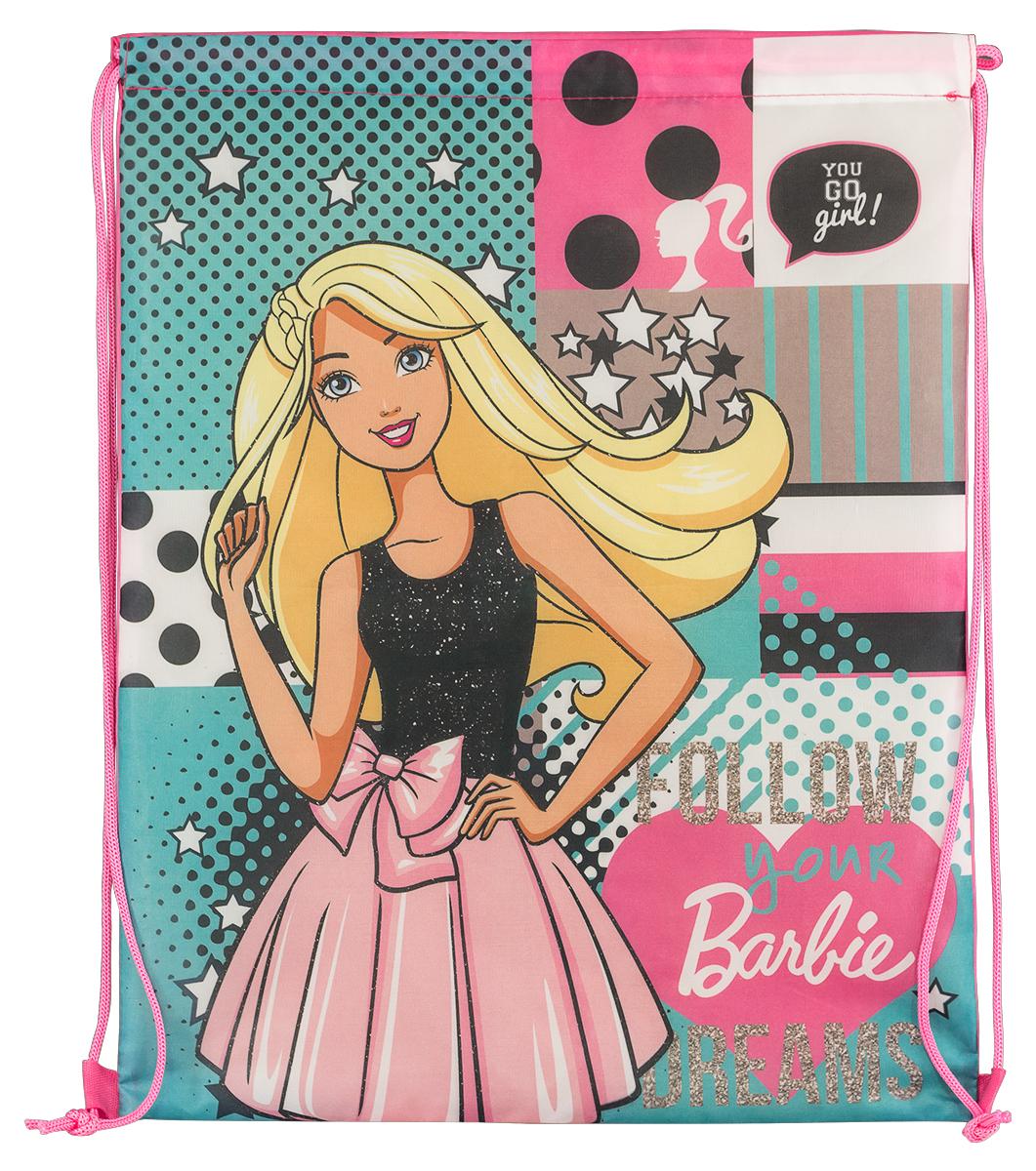 Barbie Мешок для обуви BarbieBRDB-MT1-883Мешок для переноски обуви, выполнен из плотного водостойкого материала, затягивается сверху шнуром-лямкой и носится, как рюкзак. Размер: 43 х 34 х 1 см.