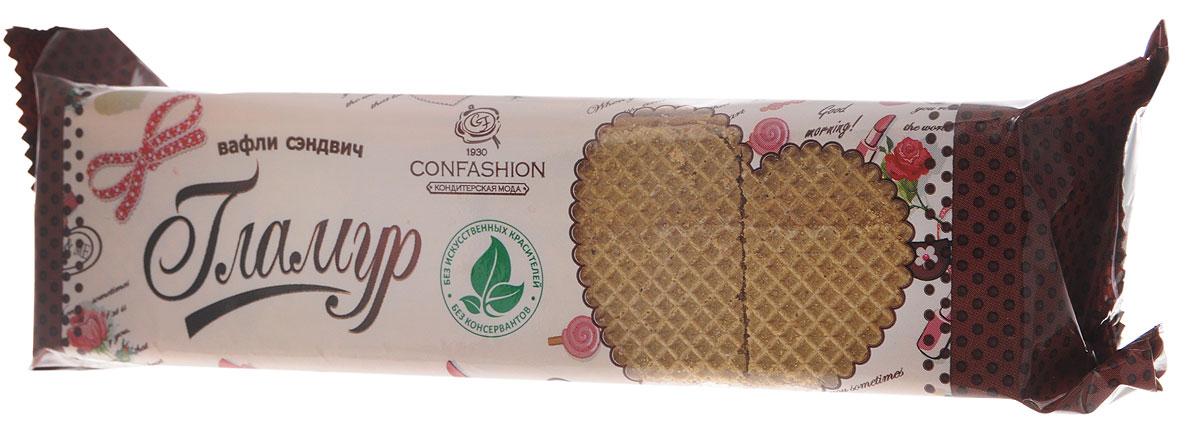 Конфэшн Гламур вафли-сэндвич со вкусом шоколада и грецкого ореха, 195 г