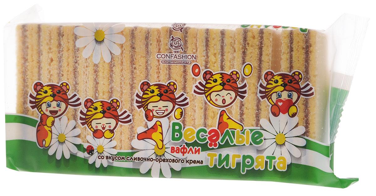 Конфэшн Веселые тигрята вафли со вкусом сливочно-орехового крема, 200 г