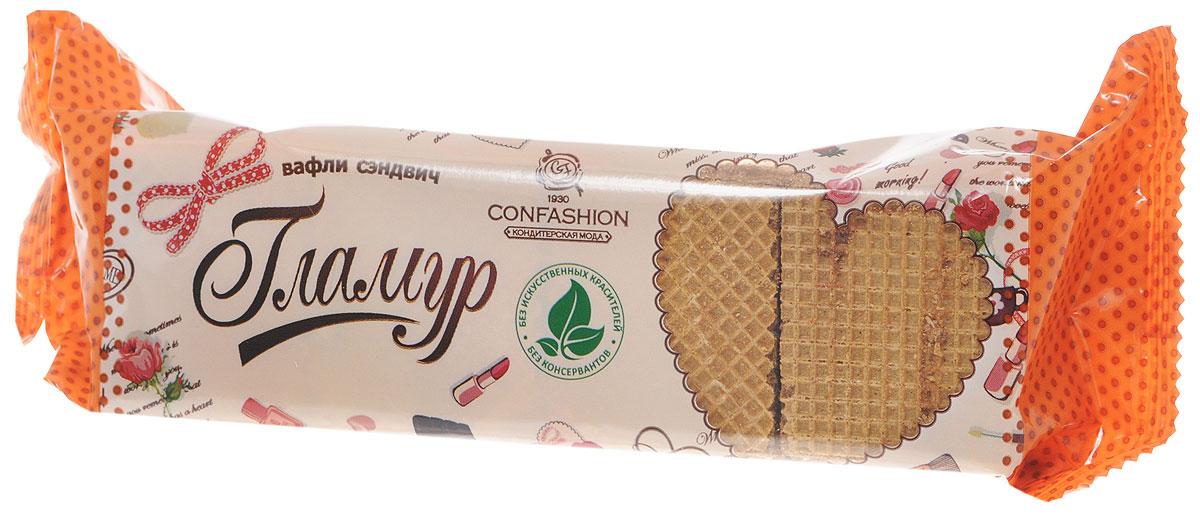 Конфэшн Гламур вафли-сэндвич со вкусом шоколада и фундука, 195 г 4601614023551