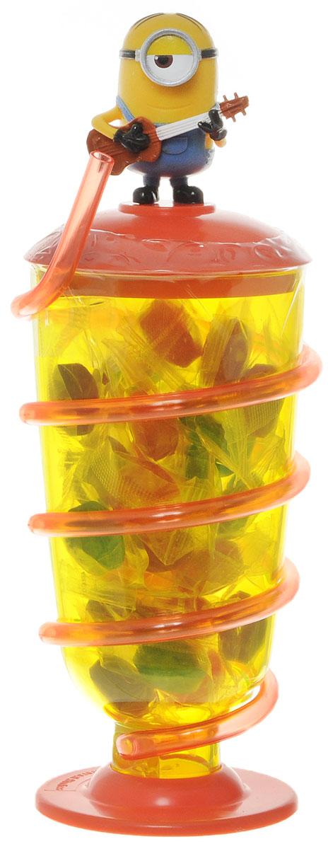 Minions фруктовая карамель в бокале с трубочкой, 90 г