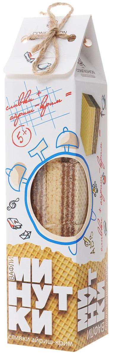 Конфэшн Минутки вафли со вкусом сливок айриш-крим, 165 г4601614022066Вафли с жировой начинкой Конфэшн Минутки со вкусом сливок айриш-крим. Придутся по вкусу и взрослым, и детям.