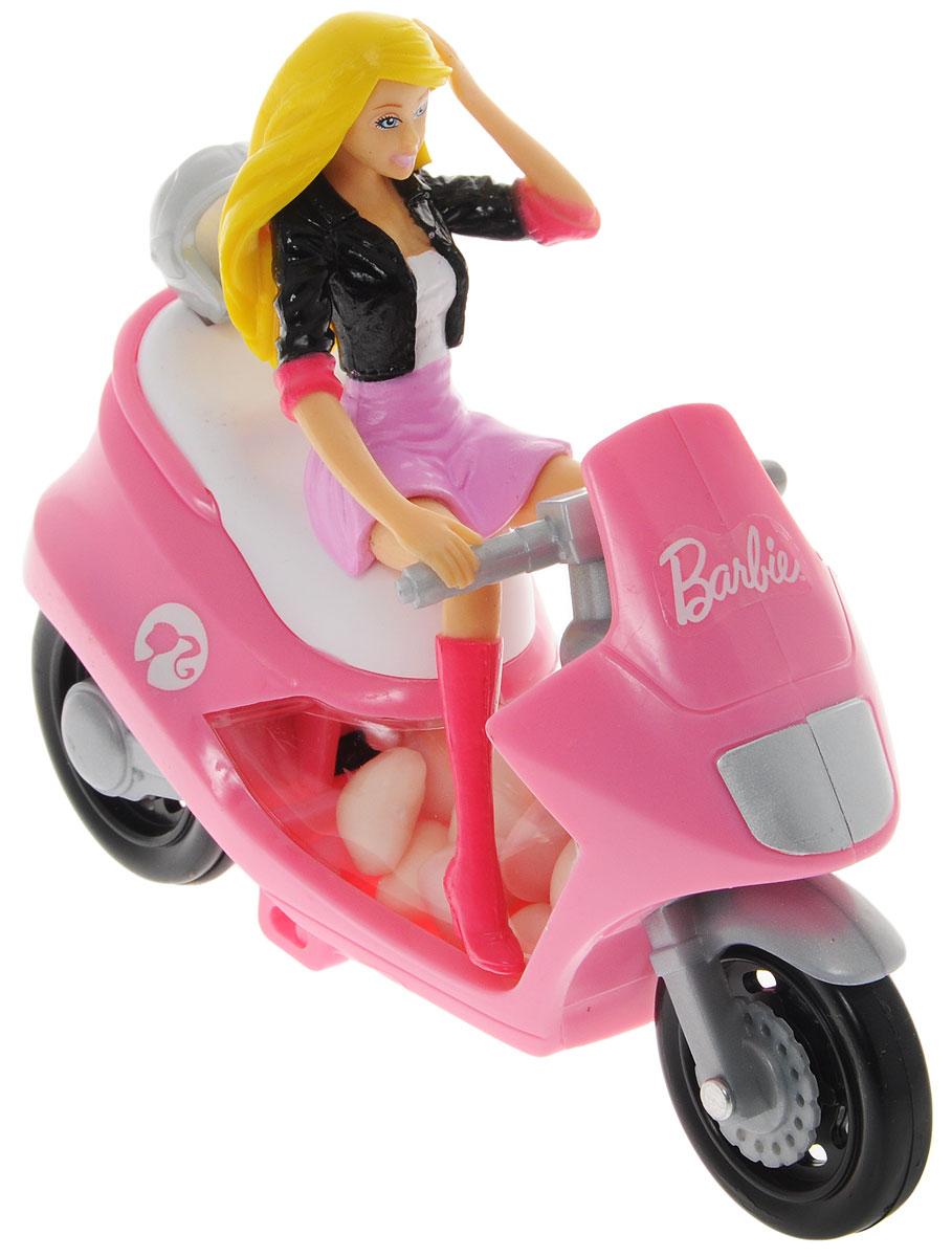 Barbie конфеты драже с розовым скутером, 10 г4004641216987_скутер розовыйИгрушка для девочек, выполненная в виде Barbie на скутере. К скутеру прикреплен мини-контейнер с 10 граммами драже.