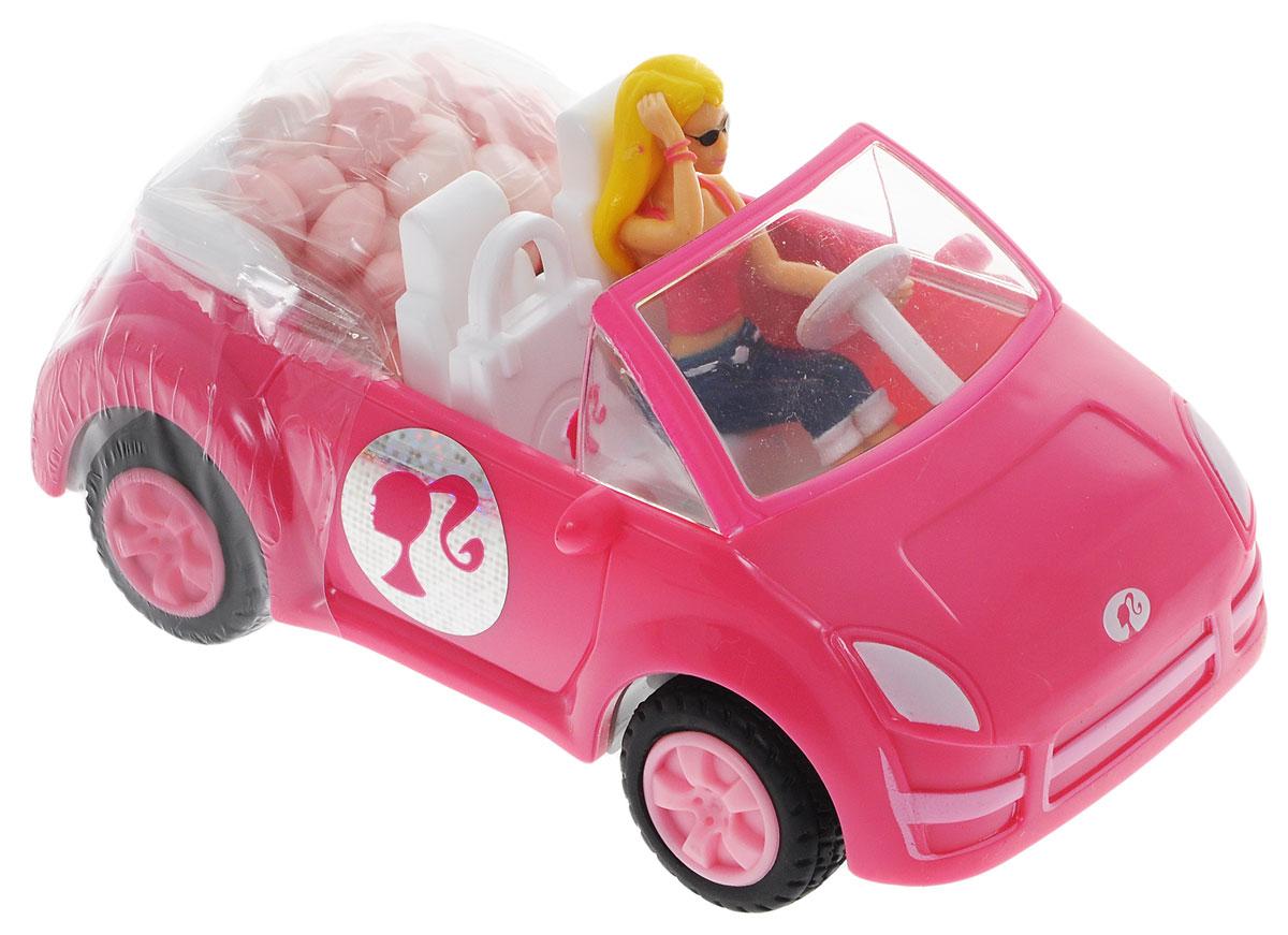 Barbie конфеты драже с розовым кабриолетом, 12 г4004641216925_розовая машинаИгрушка для девочек, выполненная в виде Barbie в кабриолете. К кабриолету прикреплен мини-контейнер с 12 граммами драже.