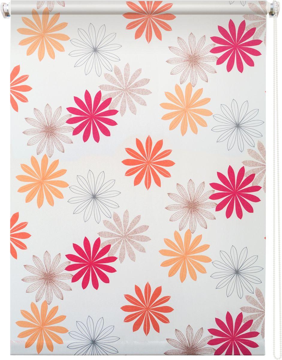 Штора рулонная Уют Космея, цвет: белый, 140 х 175 см62.РШТО.8980.140х175Штора рулонная Уют Космея выполнена из прочного полиэстера с обработкой специальным составом, отталкивающим пыль. Ткань не выцветает, обладает отличной цветоустойчивостью и хорошей светонепроницаемостью. Изделие оформлено красочным цветочным узором, отлично подойдет для спальни, кухни, гостиной, а также детской. Штора закрывает не весь оконный проем, а непосредственно само стекло и может фиксироваться в любом положении. Она быстро убирается и надежно защищает от посторонних взглядов. Компактность помогает сэкономить пространство. Универсальная конструкция позволяет крепить штору на раму без сверления, также можно монтировать на стену, потолок, створки, в проем, ниши, на деревянные или пластиковые рамы. В комплект входят регулируемые установочные кронштейны и набор для боковой фиксации шторы. Возможна установка с управлением цепочкой как справа, так и слева. Изделие при желании можно самостоятельно уменьшить. Такая штора станет прекрасным элементом декора окна...