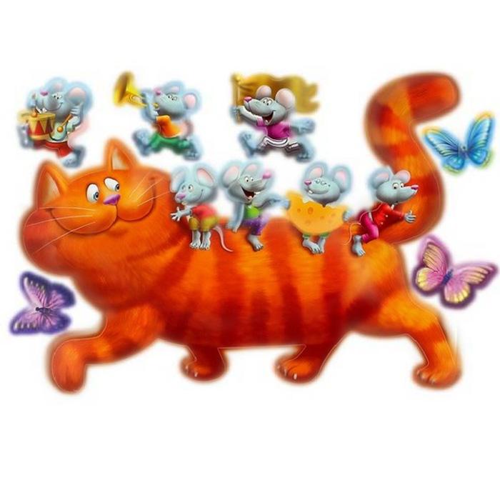 Украшение для стен и предметов интерьера Кошки-мышкиВ 2025Украшение для стен и предметов интерьера Кошки-мышки, состоящее из 7 самоклеющихся элементов с изображением кошки, на которой сидят мышки, бабочек и трех мышат, один из которых играет на трубе, другой стучит по барабану, а третий бежит с флагом. Это украшение поможет вам украсить интерьер вашего дома и проявить индивидуальность. Декоретто - уникальный способ легко и быстро оживить интерьер, добавить в него уют и радость. Для вас открываются безграничные возможности проявить творчество и фантазию, придумать оригинальный дизайн, придать новый вид стенам и мебели. В коллекции Декоретто вы найдете украшения для любых городских и дачных интерьеров: детских, гостиных, спален, кухонь, ванных комнат. Особенности украшений Декоретто: изготовлены из экологически безопасной самоклеющейся пленки с водоотталкивающей поверхностью; быстро и легко наклеиваются на обои, крашеные стены, дерево, керамическую плитку, металл, стекло, пластик; при...