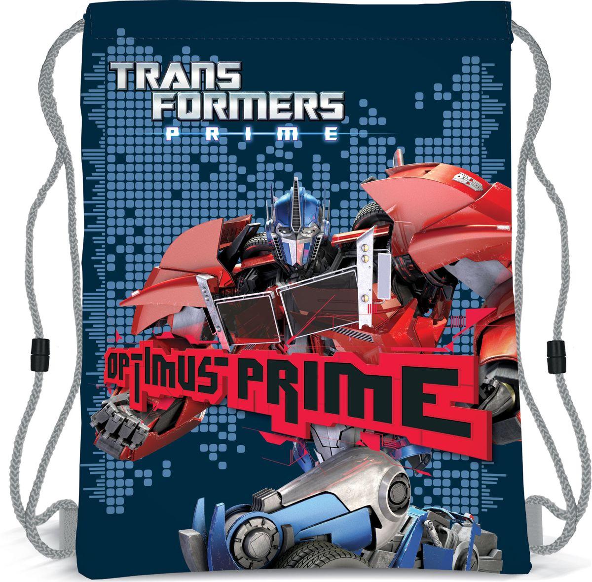Transformers Prime Рюкзак для обувиTRBB-UT1-883Мешок для переноски обуви, выполнен из плотного водостойкого материала, затягивается сверху шнуром-лямкой и носится, как рюкзак. Размер: 43 х 34 х 1 см.