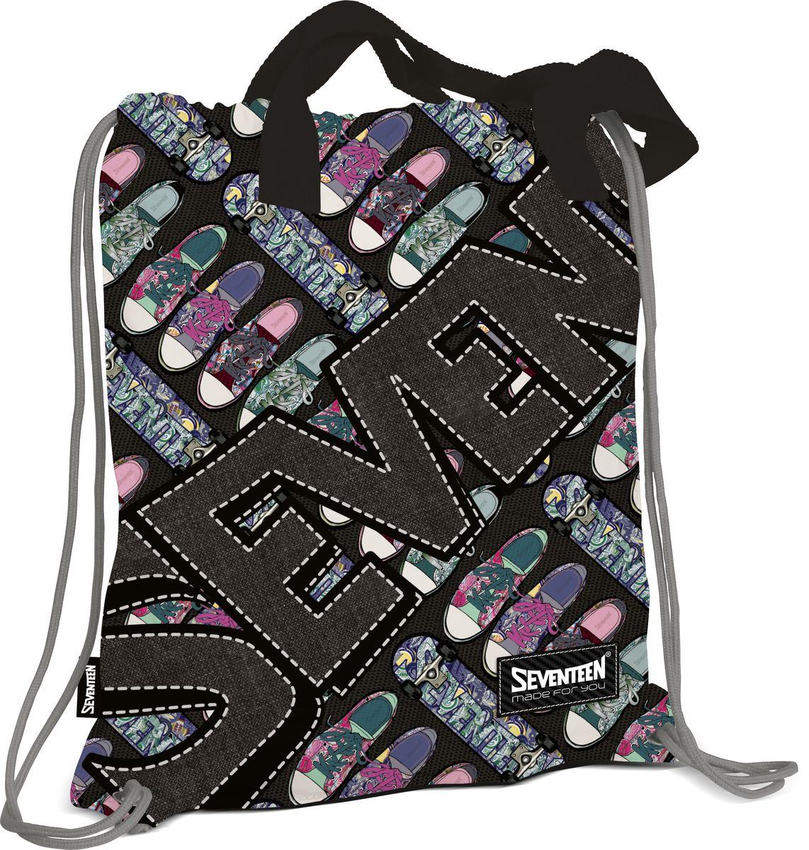 Рюкзак для обуви с ручками SeventeenSVCB-RT1-896Сумка-рюкзак для обуви с ручками. Внутри дополнительный карман на молнии для мелочей Размер 43 х 39 х 1 см. Seventeen