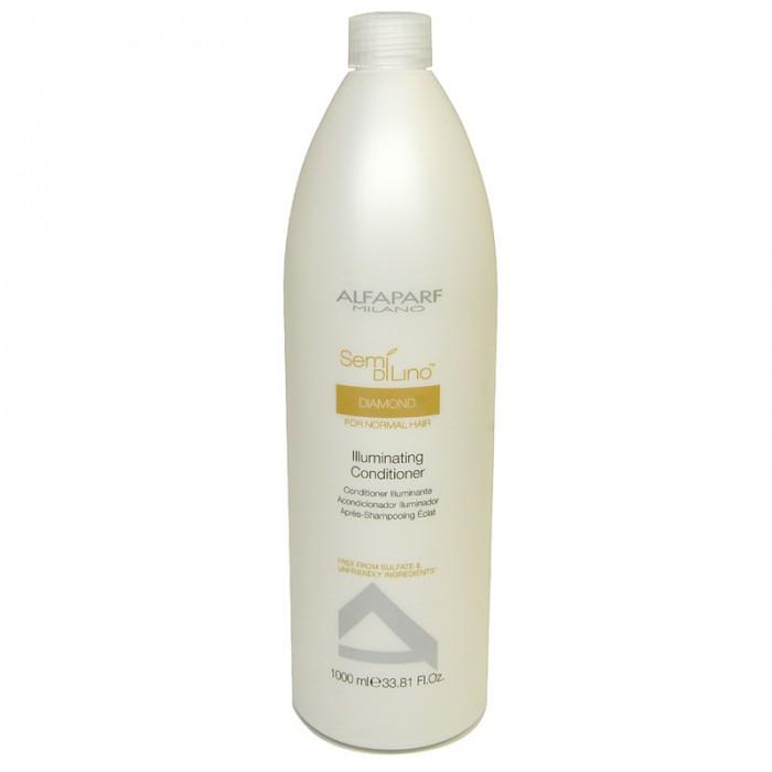 Alfaparf Кондиционер для нормальных волос, придающий блеск Semi Di Lino Diamond Illuminating Conditioner 1000 мл