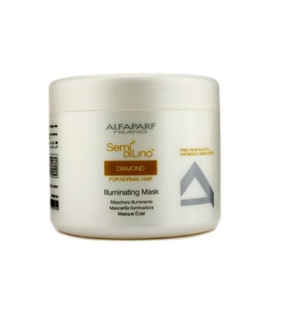 Alfaparf Маска для нормальных волос, придающая блеск Semi Di Lino Diamond Illuminating Mask 500 мл