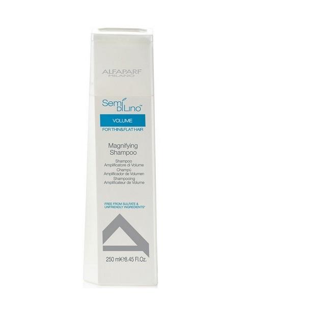 Alfaparf Шампунь для прикорневого объема Semi Di Lino Volume Magnifying Shampoo 1000 млalfa21Alfaparf Semi Di Lino Шампунь для прикорневого объёма. Вам надоело укладывать волосы каждый день? Однако вы не можете обойтись без этого из-за тусклых и тонких прядей. К счастью сегодня при помощи правильно подобранной качественной косметики вы легко можете исправить любые недостатки вашей шевелюры. Особенно эффективной является натуральная косметика. Стилисты всего мира рекомендуют использовать средства по уходу итальянской компании Alfaparf. Она известна благодаря тому, что специалисты разрабатывают уникальные формулы средств с минимальным использованием искусственных ароматизаторов. Для того, чтобы увеличить объем и сохранить его на несколько дней вам необходимо приобрести шампунь для прикорневого объёма Alfaparf Semi Di Lino Volume Magnifying Shampoo. Используя этот шампунь, вы не только улучшите состояние волос, но и облегчите процесс укладки. Активным компонентом шампуня является пшеничный протеин. Этот элемент воздействует на структуру волос изнутри, заполняя пустоты и тем...