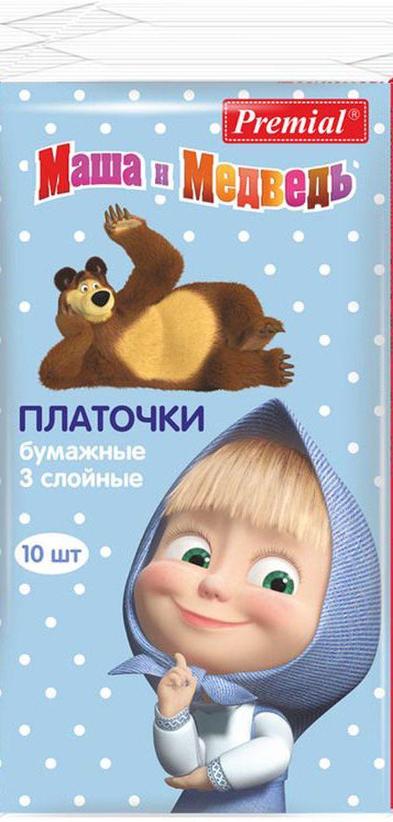 Маша и Медведь Бумажные платочки 6 x 10 шт.85700600401Бумажные носовые платочки. Мягкие и нежные, хорошо впитывают, удобны в применении и незаменимы для ежедневного ухода за ребенком.