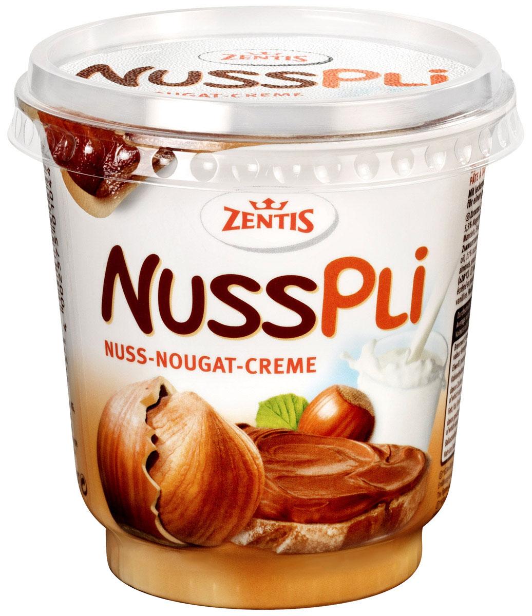 Zentis Nusspli - вкуснейшая шоколадная паста с лесным орехом и добавлением какао. Намажьте ее на свежий хлеб или при приготовлении сдобы и выпечки. Паста придаст любому блюду яркий ореховый вкус.
