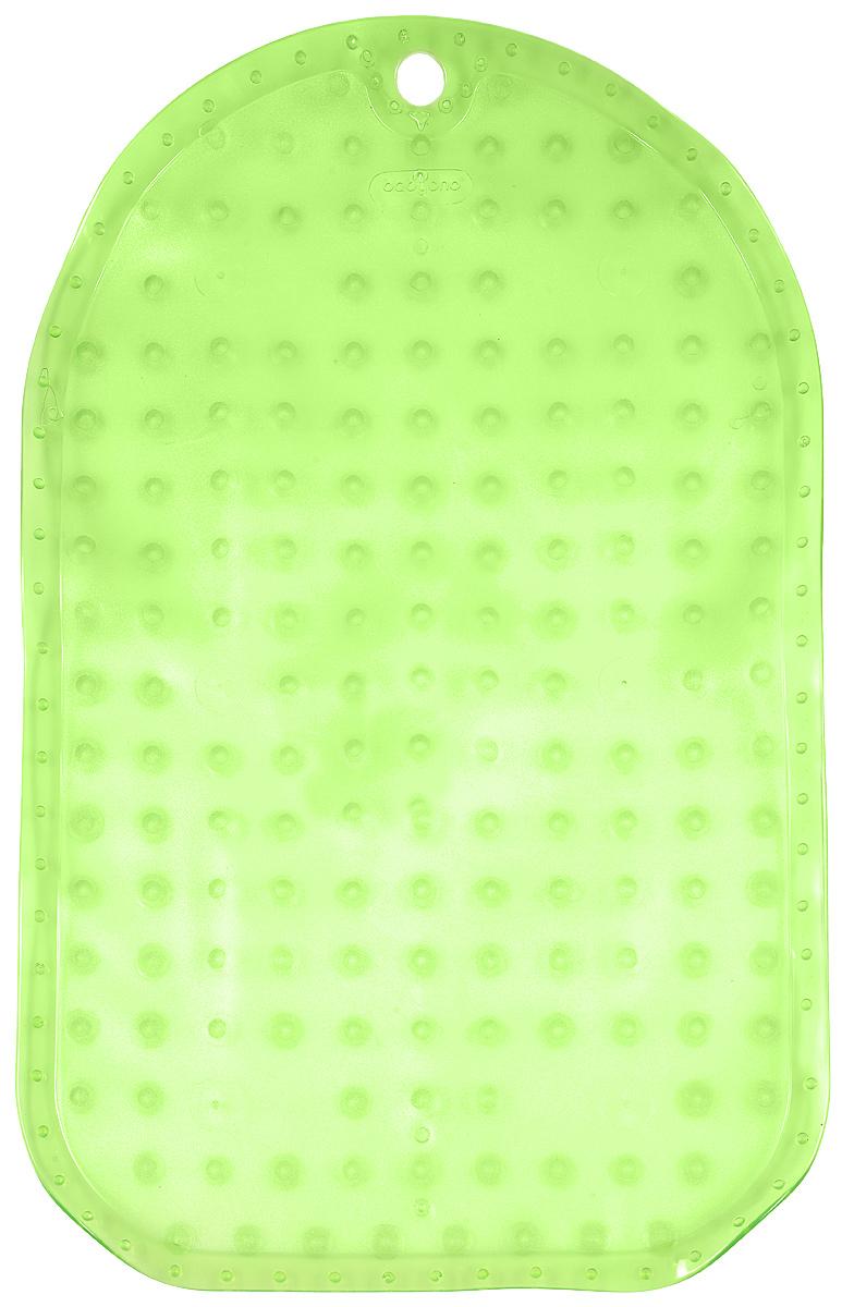 BabyOno Коврик противоскользящий для ванной цвет зеленый 55 х 35 см1345_зеленыйКоврик противоскользящий для ванной BabyOno предназначен для детских ванночек, ванн и душевых кабин. Имеет присоски, исключающие перемещение коврика по поверхности. Для правильного закрепления коврика следует сначала наполнить ванну водой, а затем вложить коврик и равномерно прижать с каждой стороны. Во время купания ребенок должен находиться под постоянным присмотром взрослого. Перед первым и после каждого купания коврик следует промыть в теплой воде с добавлением детского мыла, ополоснуть и высушить. Изделие не является игрушкой. Хранить в месте, недоступном для детей. Не содержит фталатов. Товар сертифицирован.