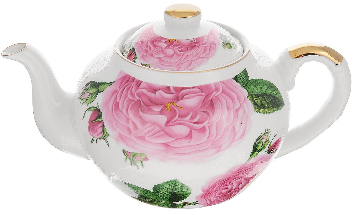 Чайник заварочный Loraine, с фильтром, 1 л. 2112721127Заварочный чайник Loraine изготовлен из высококачественной керамики и дополнен металлическим фильтром. Он имеет изящную форму и декорирован нежным цветочным рисунком. Чайник сочетает в себе стильный дизайн с максимальной функциональностью. Красочность оформления придется по вкусу и ценителям классики, и тем, кто предпочитает утонченность и изысканность. Чайник упакован в подарочную коробку из плотного картона. Внутренняя часть коробки задрапирована атласом, и чайник надежно крепится в определенном положении благодаря особым выемкам в коробке. Высота чайника (без учета крышки): 11 см. Диаметр (по верхнему краю): 9 см. Высота чайника (с учетом крышки): 14 см.