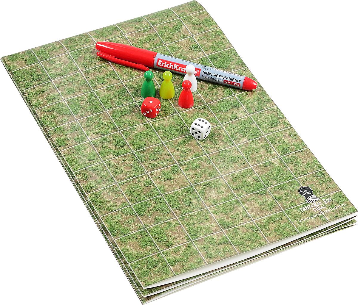 Pandoras Box Игра-бродилка Создай свое приключение Трава и земля07PB005Игровой комплект Pandoras Box содержит: раскладное игровое поле, 2 шестигранных кубика; 4 фишки; маркер для нанесения приключения, инструкция. Одна сторона игрового поля размечена квадратами размером 25 мм х 25 мм. Другая сторона: белый ламинированный лист. На поверхности поля необходимо рисовать неперманентным маркером на водной основе, что позволит стирать рисунки без следа Игра формата бродилка имеет свои плюсы и минусы. Главный минус бродилок-они быстро надоедают. С нашим набором - это становится невозможно! Бесконечное количество тем, которые вы можете подобрать ребенку в зависимости от задач обучения: и космические просторы, и пиратские приключения, и приключение в мир математики, английского языка и прочее, прочее, прочее. Итак, как же создать игру бродилку! Мы приведем ниже шаги, которые сориентируют вас: Шаг 1. Выберите тему бродилки и ее задачи. Лучше руководствоваться современными тенденциями: то, что в данный момент интересно...
