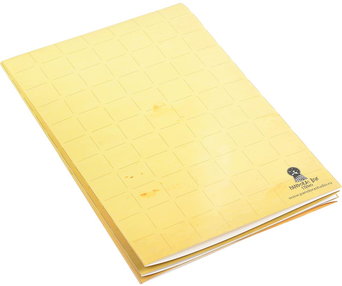 Pandoras Box Мат игровой ламинированный Старая карта07PB004Игровой раскладной мат Pandoras Box, который можно использовать как вам угодно. Мат имеет двустороннюю ламинацию. На одной стороне мата расположена разметка дюймовой клеткой. Другая сторона - белый ламинированный лист. Размер клетки - 2,5x2,5 см. Мат изготовлен из прочного картона. Быстро и удобно складывается до размера формата А4 (210 мм х 297 мм). Сторону с рисунком можно использовать для настольных ролевых игр, детских бродилок, сторону с пустым пространством для набросков идей, рисунков и т.д. Такой мат пригодится дома, на встрече, в дороге, везде! На поверхности мата можно рисовать неперманентным маркером на водной основе, что позволит стирать рисунки без следа. Изображение не стирается случайно, оно останется на мате до тех пор, пока вам это необходимо! Использование: Когда настанет время удалить нарисованное неперманентным маркером изображение, воспользуйтесь сухой или влажной губкой, ластиком, тканью и т.п.