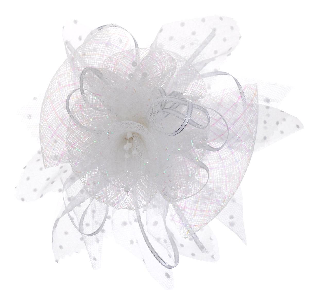 Babys Joy Зажим для волос цвет белый K 9K 9_белыйЗажим для волос Babys Joy выполнен из металла и декорирован большим бантом из органзы с лентой из люрекса. Зажим позволит убрать непослушные волосы со лба и придаст образу немного романтичности и очарования.