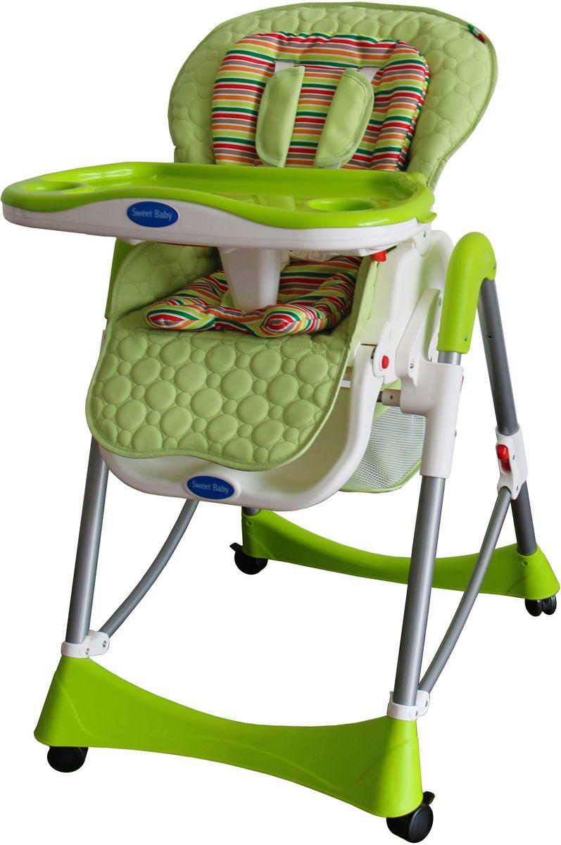 Sweet Baby Стульчик для кормления Royal Strip Mela324 570Два цветовых решения мягкого вкладыша для каждой расцветки стульчика! Ремни безопасности 5-ти точечные. Материал – гипоалергенная и комфортная на ощупь эко кожа. 3 позиции установки подноса. 5 уровней высоты. 3 уровня накдлона спинки стула. 3 положения подножки. Есть вместительная корзина для игрушек и также анатомическая вставка для разделения ног. Колеса с тормозами. Есть защитная накладка на поднос. Материал корпуса- пластик, алюминий. Съемный мягкий вкладыш. 2 углубления для стаканов. Съемны поднос. Габариты (Д х Ш х В), с 59х79х102 см. Вес - 10 кг. Вес в упаковке – 12кг.