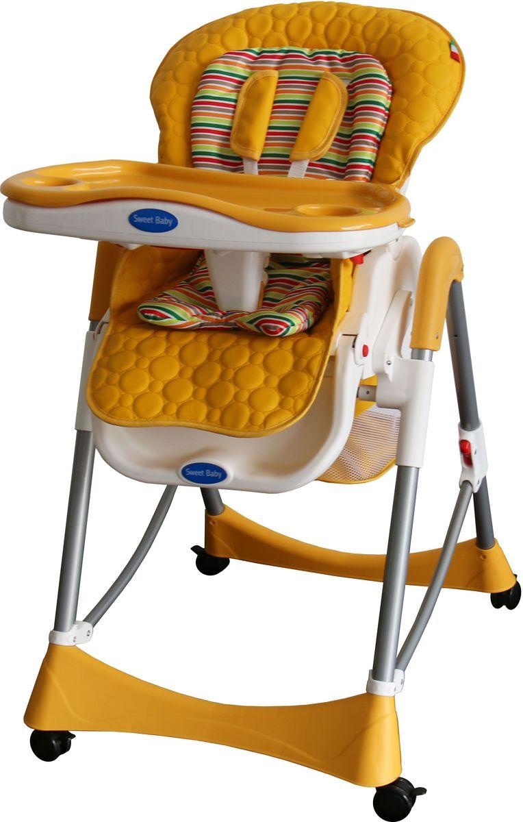 Sweet Baby Стульчик для кормления Royal Strip Arancione324 572Два цветовых решения мягкого вкладыша для каждой расцветки стульчика! Ремни безопасности 5-ти точечные. Материал – гипоалергенная и комфортная на ощупь эко кожа. 3 позиции установки подноса. 5 уровней высоты. 3 уровня накдлона спинки стула. 3 положения подножки. Есть вместительная корзина для игрушек и также анатомическая вставка для разделения ног. Колеса с тормозами. Есть защитная накладка на поднос. Материал корпуса- пластик, алюминий. Съемный мягкий вкладыш. 2 углубления для стаканов. Съемны поднос. Габариты (Д х Ш х В), с 59х79х102 см. Вес - 10 кг. Вес в упаковке – 12кг.