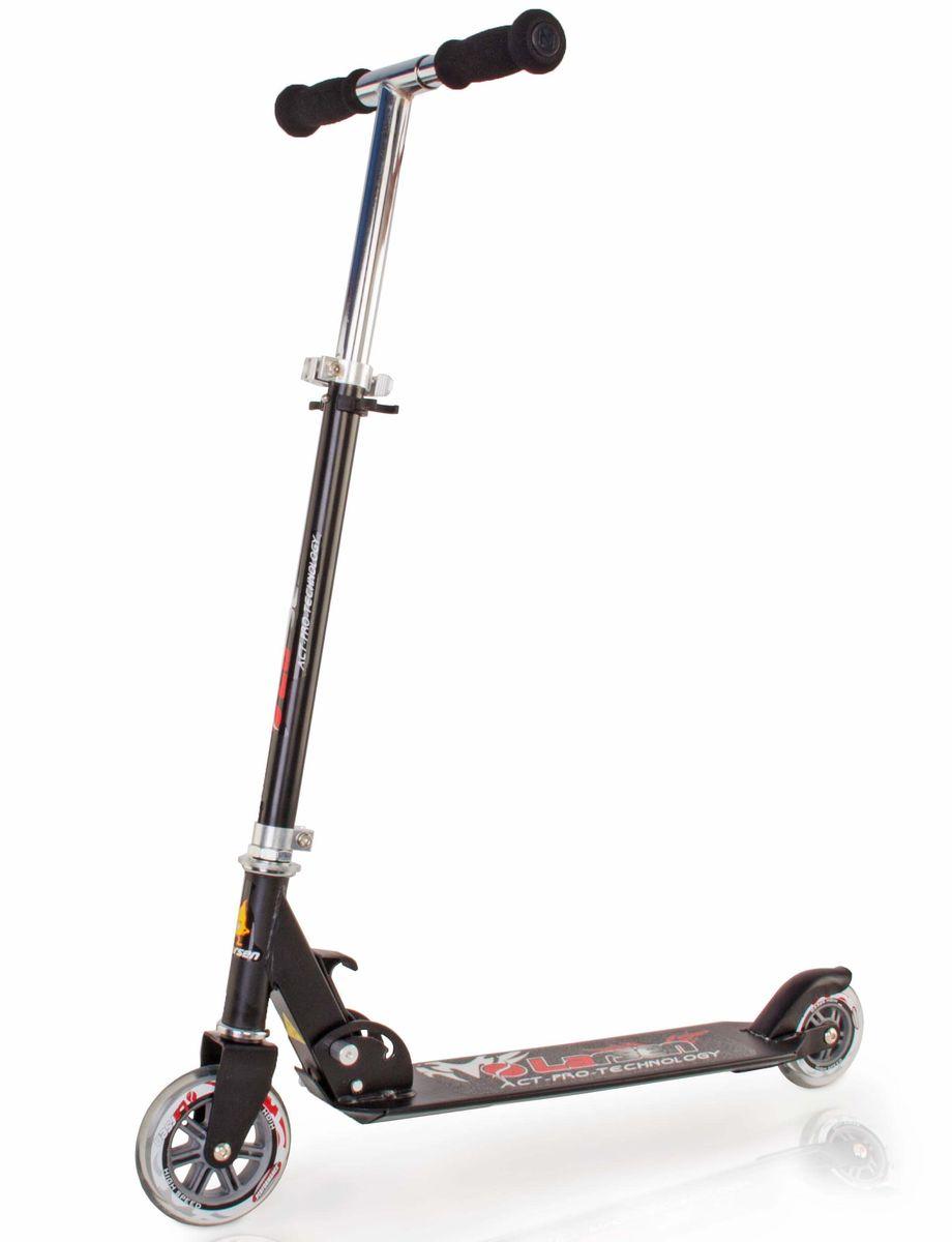 Самокат Larsen, цвет: черный. BZ1105-P338578Самокат Larsen BZ1105 – отличный вариант для взрослых и детей. Регулируемая высота рулевой стойки: 64-83,5 см. Этот стильный складной самокат будет незаменим во время летних прогулок. На нем вы сможете кататься с особым комфортом – его колеса выполнены из качественного полиуретана. Рама Larsen сделана из нержавеющей стали, и вы можете быть уверенными, что самокат прослужит долгое время. Подшипник АВЕС-5 выполнен из углеродистой стали с повышенной износостойкостью. Самокат способен выдерживать вес до 100 кг.